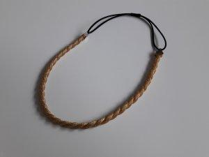 Haarband - goldfarbene Kordel
