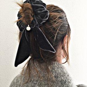Bandeau cheveux gris anthracite