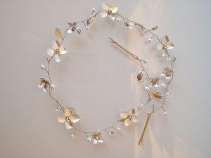 Haarband-/Nadel, silber/gold mit Strass von Bijou Brigitte