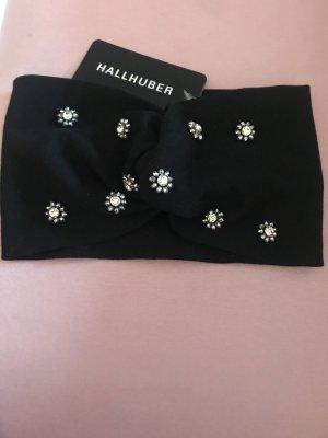 Hallhuber Cache-oreilles noir-argenté