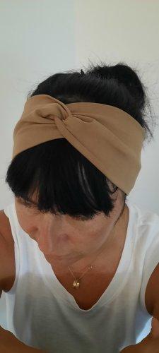 handmade unikat Wstążka do włosów camel