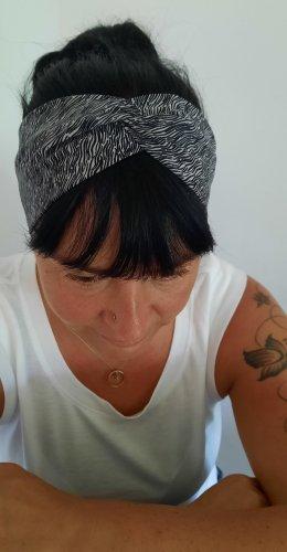 handmade unikat Cinta para el pelo gris oscuro