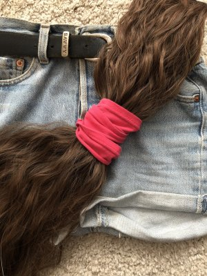 Nastro per capelli rosso lampone