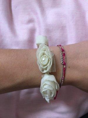 Haargummi Armband Rosen Braut