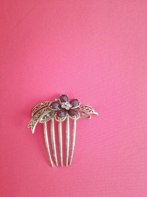Hair Clip black brown-gold-colored