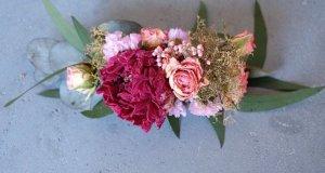 Haarkamm aus getrockneten Blumen, Hochzeit, Standesamt, Brautjungfer, Dirndl, Oktoberfest, Junggesellenabschied