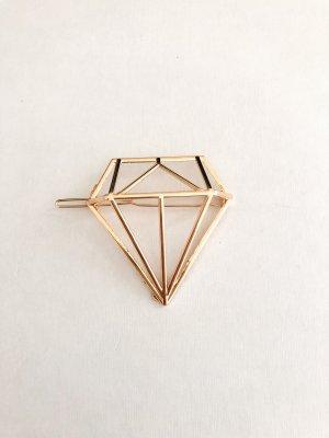 Haarklammer Diamant gold