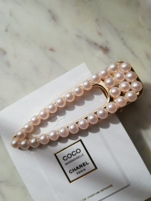 Hair Clip gold-colored-pink metal