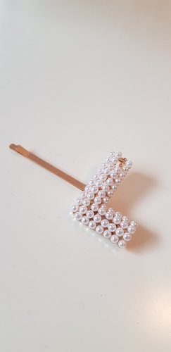 Hair Clip white-gold-colored
