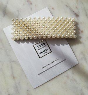 Haarklammer rechteckig mit Perlen