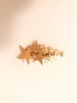 Haarklammer Sterne gold