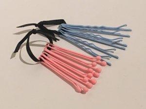 Haarklemmen in rosa/hellblau von COS
