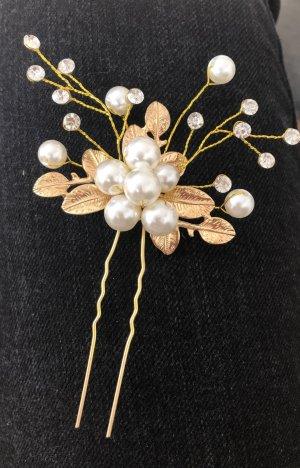 unbekannte Hair Pin gold-colored-white