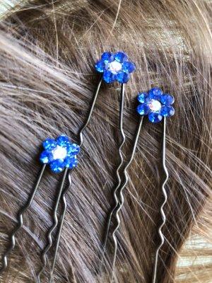 Wpinki do włosów niebieski-biały