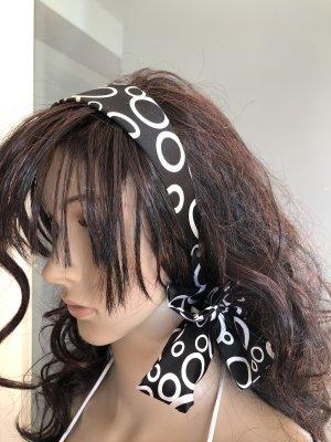 Cerchietto per capelli marrone scuro-bianco