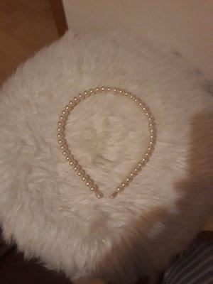 Haarreif aus Perlen