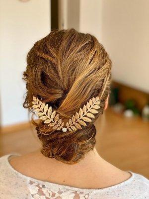 Opaska na włosy złoto