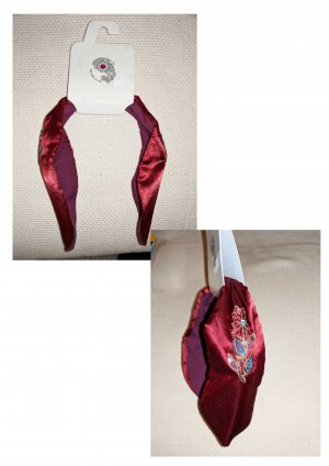 Bijoux pour la tête rouge fluo-bleu clair