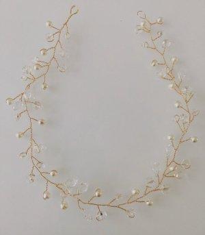 Haarreif Haarklammer Haarstecker haarschmuck Hochzeit Perlen Gold