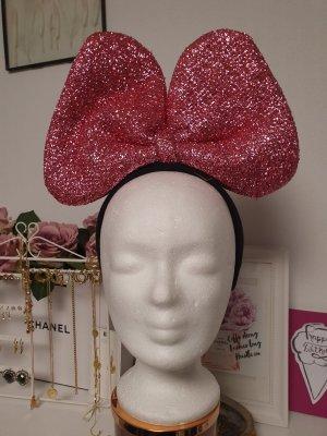 Opaska na włosy czarny-różowy