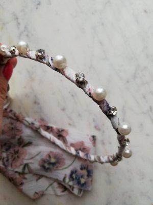 Hair Circlet white-pink