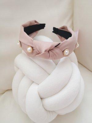 Cerchietto per capelli rosa pallido-bianco