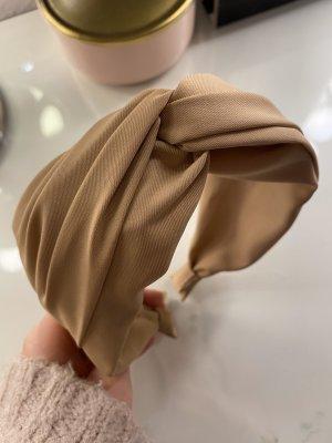 Haarreif Trend Stoff umschlungenes Haarband in beige