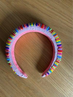 Haarreifen bunt Perlen rosa bunt
