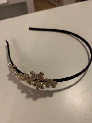 Diadema negro-color oro