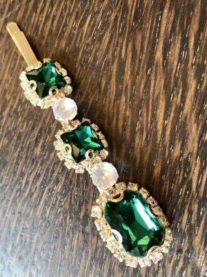 Hair Clip gold-colored-forest green