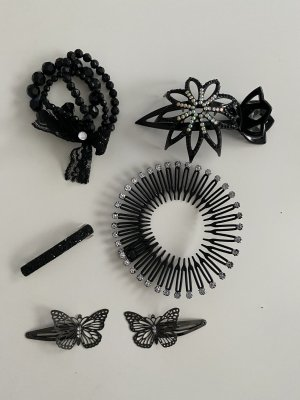 Hair Pin black-silver-colored