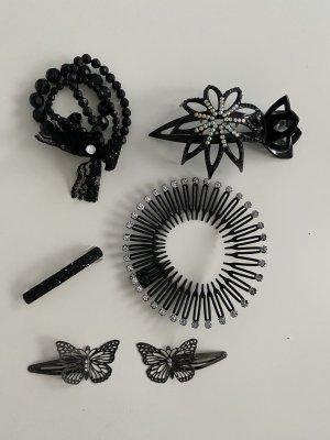 Spilla per capelli nero-argento