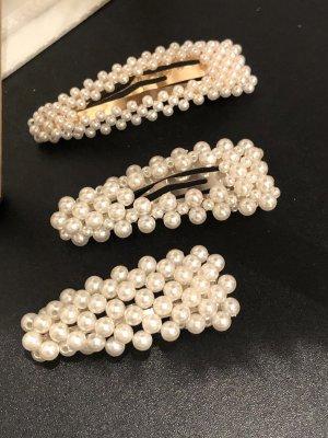 Haarspange 3er Set Perlen Spängchen Haarklammern