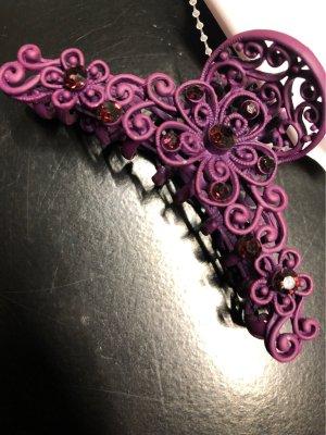 Haarelastiek bruin-paars-lila