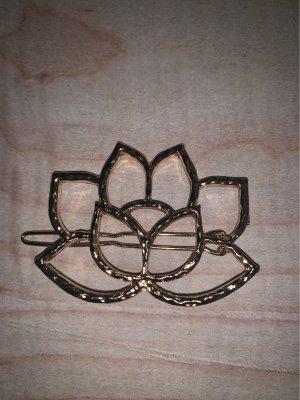 Haarspange Gold Seerose Lotus  ausgefallen