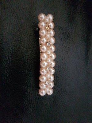 Vintage Accesorio para el pelo color plata-rosa empolvado
