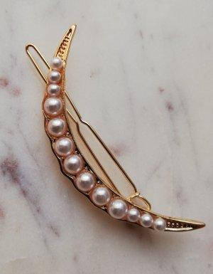Haarspange Mond Moon mit Perlen besetzt