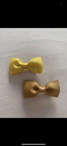 Pinza para el pelo amarillo-color bronce
