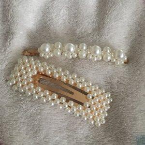 Haarspangen mit Perlen groß Blogger Statement