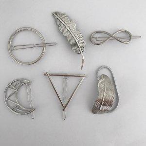Haarspangen Set Silber