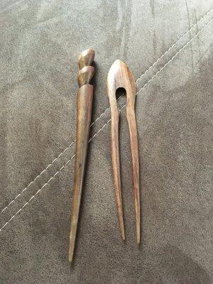 Barrette taupe-brun bois