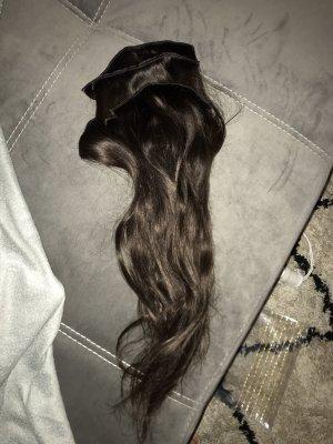 Haarverlängerung Clip In 100g 50cm Braun