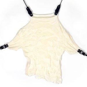 Top corto bianco sporco Cotone