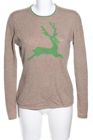 Strickpullover braun-grün meliert Casual-Look