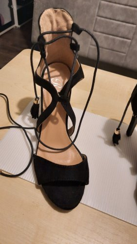 RS Wysokie buty na obcasie czarny