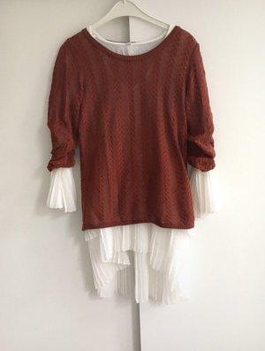 Häckel-Pullover rostrot |Gr. S