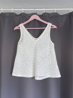 Tally Weijl Top a uncinetto bianco