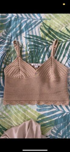 New Yorker Crochet Shirt sand brown