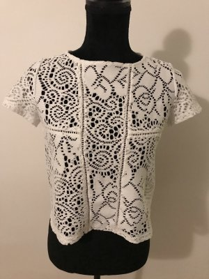 Primark Crochet Shirt white