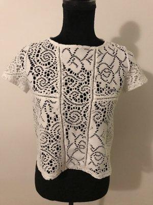 Primark Crochet Shirt white